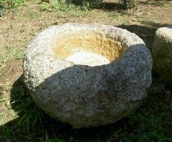 画像1: 手水鉢(臼) 江州産